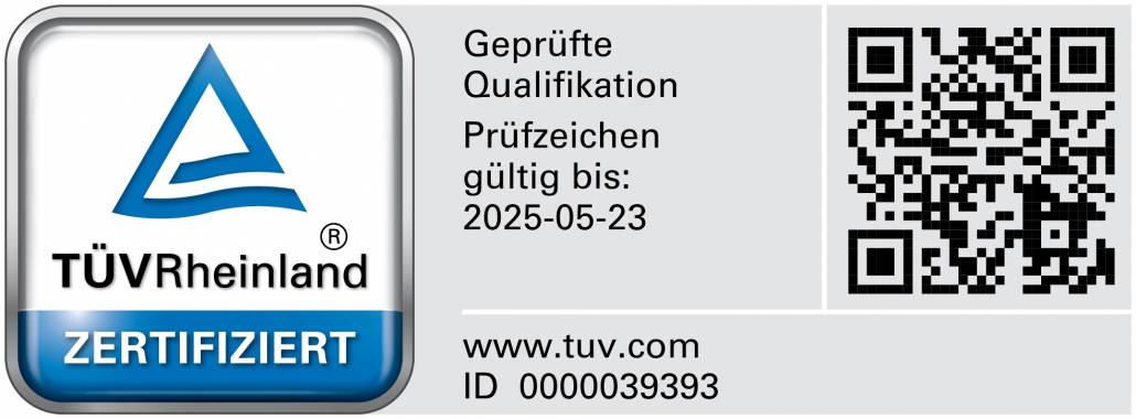 Sachverständiger für Bauwerksabdichtungen (TÜV)