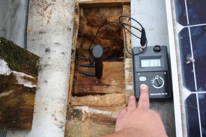 Gutachten Holzschäden unterhalb der Dachabdichtung
