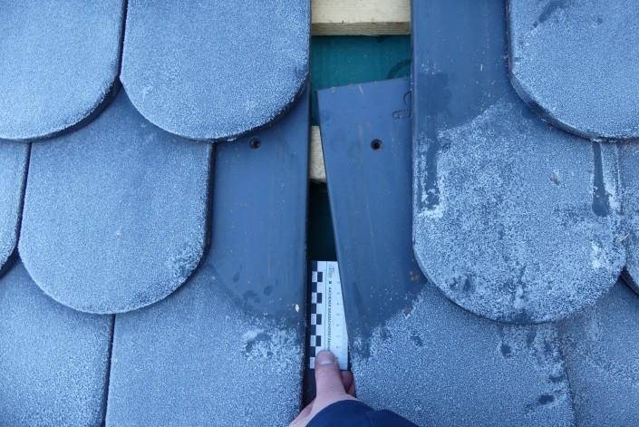 Untersuchung einer Steildacheindeckung