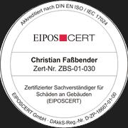 Zertifizierter Sachverständiger für Schäden an Gebäuden (EIPOSCERT) - durch die gemäß DIN EN ISO/IEC 17024 akkreditierte Zertifizierungsstelle EIPOSCERT